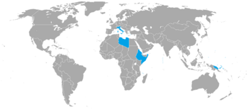 Map of the Italian colonial empire (ADR)