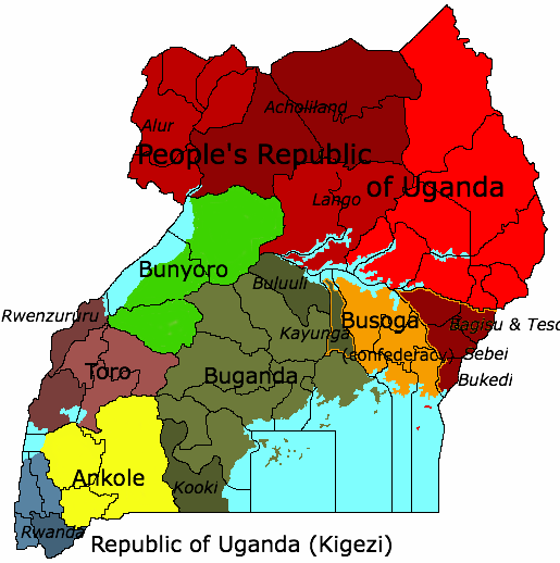 Buganda 1983 doomsday alternative history fandom powered by geography uganda 83dd sciox Gallery