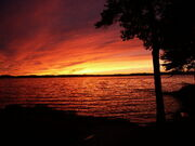 Winnipesaukee Sunset 8-28-2002 (JJH)