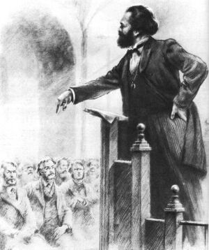 Маркс на трибуне