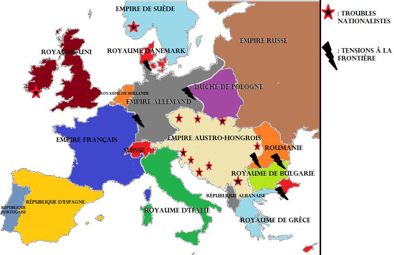 Europe en 1899