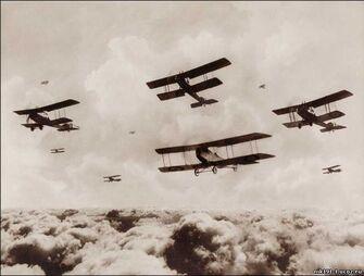 Русская авиации над фронтом