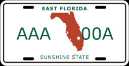License plate of East Florida (Alternity)