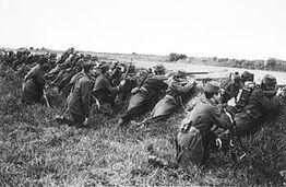 Французские солдаты на Марне
