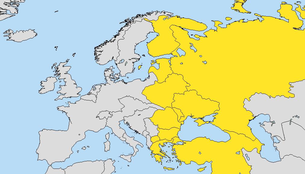 Mapa Europa Del Este.Europa Oriental Gran Imperio Aleman Historia Alternativa