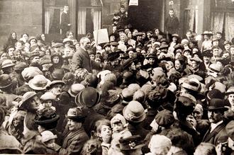 Антивоенный митинг в Глазго