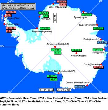 Antarctic Time Zones