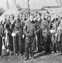 Bakufu soldiers in Western uniform