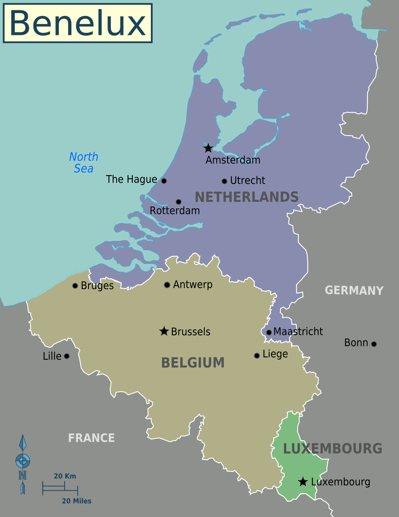 map of benelux economic union belgium netherlands and luxembourg