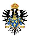 Gran Escudo de Armas de Francisco I de Francia,Francisco I como Sacro Emperador Romano Germánico(1530-1547).-0