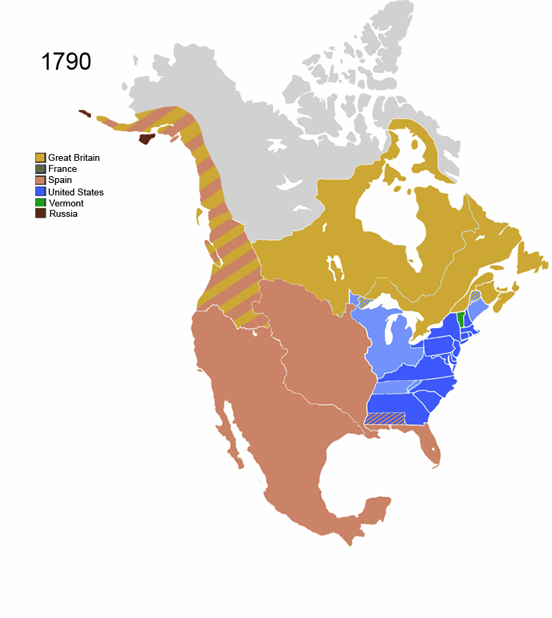 Image   North America Map 1790.png | Alternative History | FANDOM