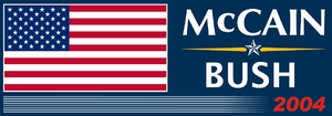 President McCain-Bush Ticket 2004 Logo