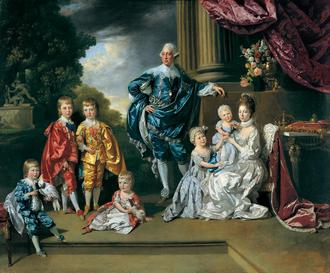 Георг III с женой и детьми