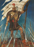 Catpain-moroni-raises-the-title-of-liberty-friberg-LDS-65-1259-39658