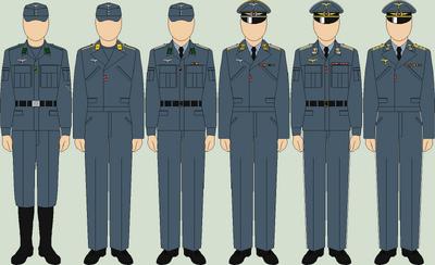 Die luftwaffe everyday uniforms2