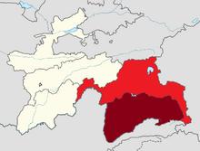 Map of Gorno-Badakhshan