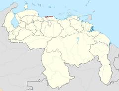 Ubicación del Estado Vargas (CNS)