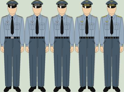 Die luftwaffe service uniforms summer