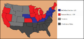Electoral Map 1864 (Give Them the Bayonet!)