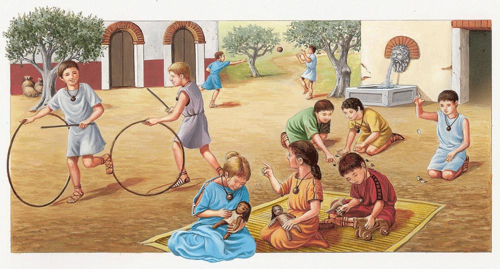Kinderspiele Im Alten Rom