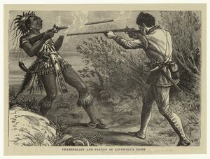 Chamberlaine and Paugus At Lovewells Fight Engraving 1872