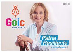 Imagen de campaña de Carolina Goic