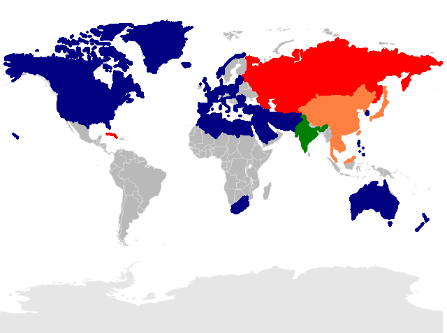 Russian And Chinese Response And The Second Cold War Invasion - World map russia us