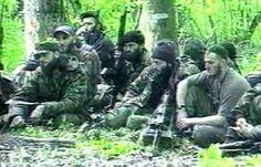 Лагерь чеченских боевиков