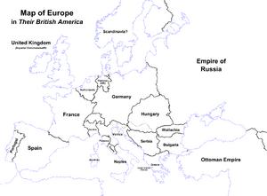 Map of Europe (Their British America)