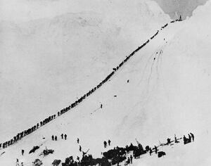Miners climb Chilkoot