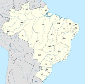 Brasil con estados (No Revolución)