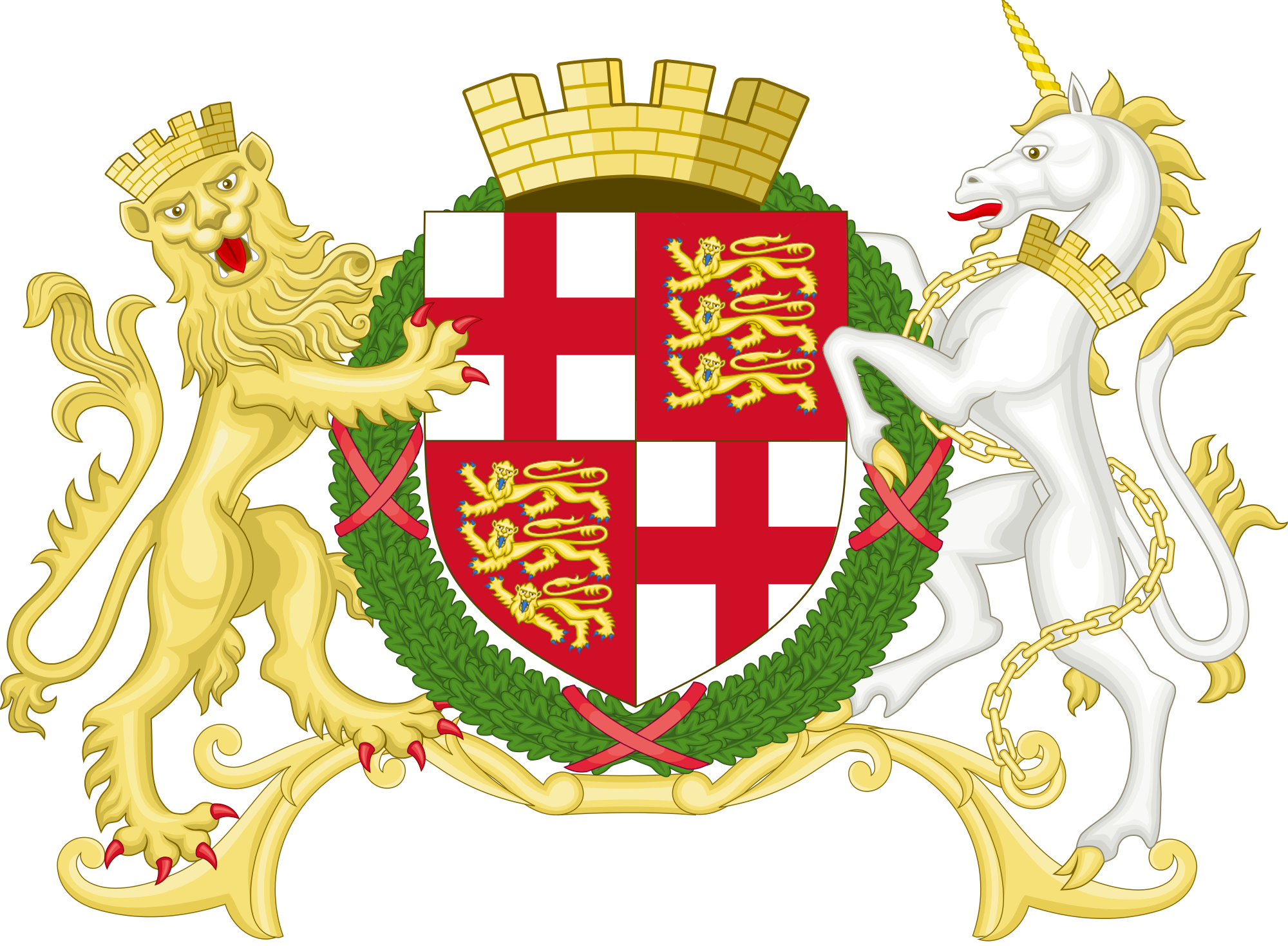 Coat of arms of England: history and description. What does he have in common with the emblem of Great Britain 45