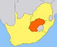 Orange Free State map