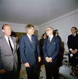 John Kennedy con Arturo Frondizi
