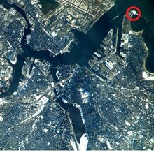 Boston Massachusetts 2007 satellite photo