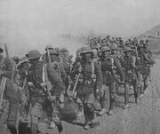 British Troops Marching in Mesopotamia