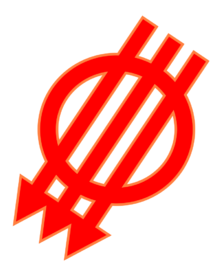 Logo der Deutschösterreichischen Sozialisten als Zeichen gegen die Donaumonarchie