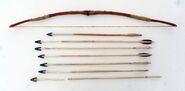 Inuit bow and arrows