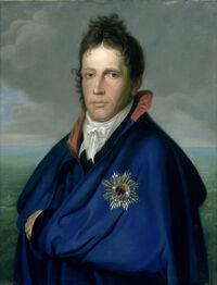 Willem Frederik (1772-1843), erfprins van Oranje-Nassau. Later koning Willem I. Genaamd 'Het mantelportret' Rijksmuseum SK-A-4113