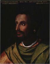Cristofano dell'Altissimo, Portrait of Lebnä-Dengel. c. 1552-1568