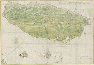 1640 Map of Formosa-Taiwan by Dutch