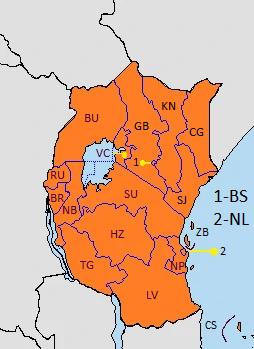 Organización Territorial del Africa Oriental (EUH)