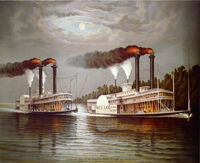 Celebrated Race of the Steamers Robt E Lee and Natchez