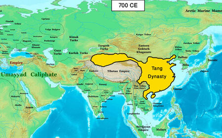 Map Chinese Empire 700 (EW)
