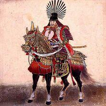 Хидэёси на коне