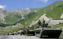 Российские войска у Ингушетии