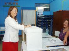 Hernando votando en Primarias