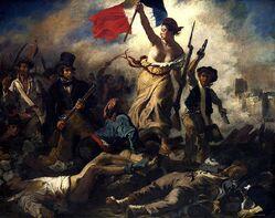 800px-Eugène Delacroix - La liberté guidant le peuple