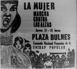 Protesta alzas 31 enero 1974