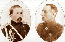 Корнилов и Колчак